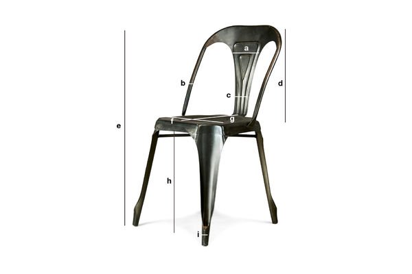 Product Dimensions Vintage Multipl's chair