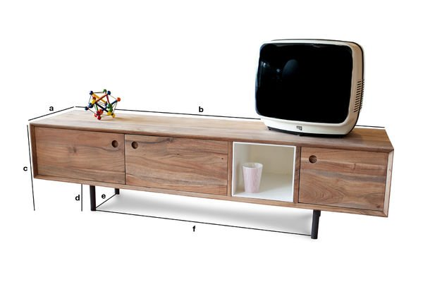 Product Dimensions Vintage TV Stand Bascole