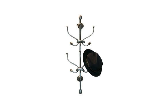 Wall-mounted parrot coat rack Clipped