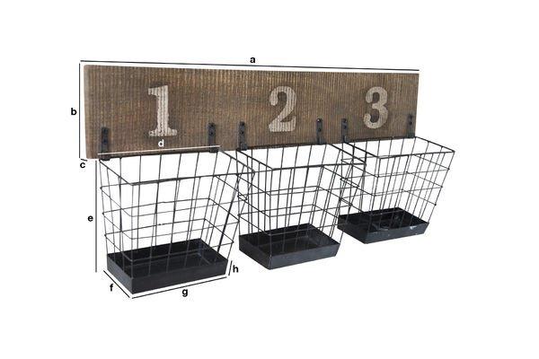 Product Dimensions Wall shelf Chloé