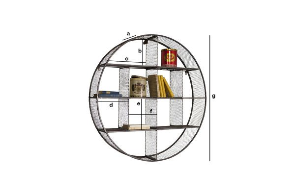 Product Dimensions Wall shelf Flèxe