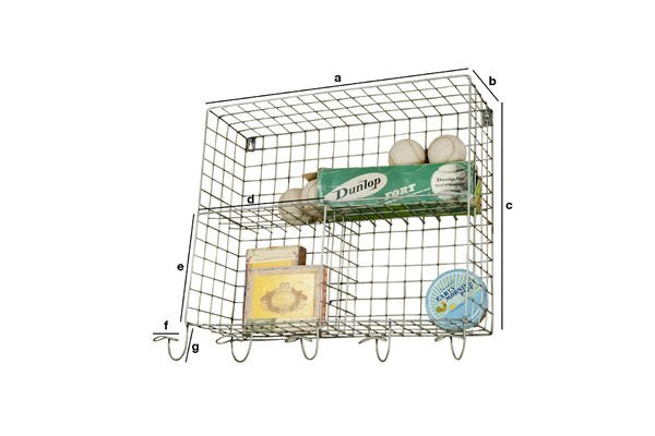 Product Dimensions Wall shelves with hooks