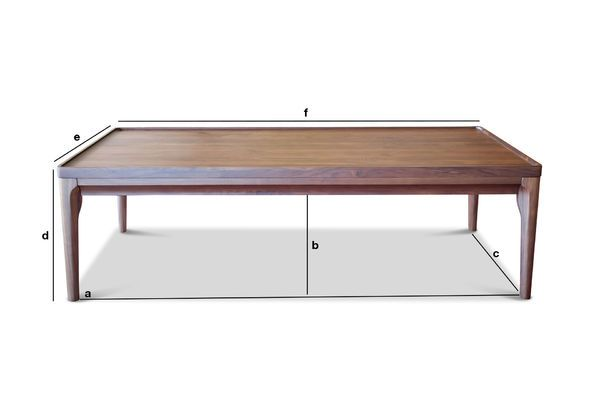 Product Dimensions Walnut Coffee table Hemët