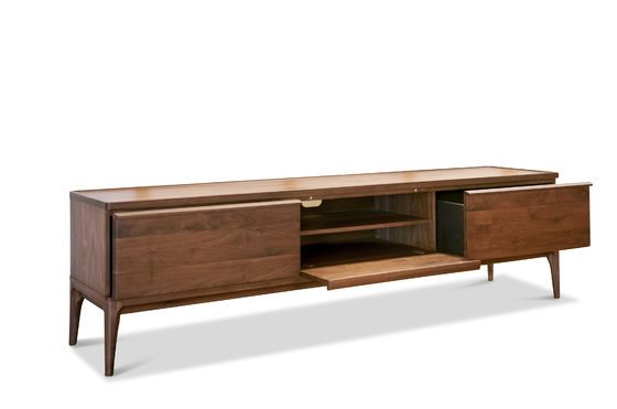 Walnut TV cabinet Hemët Clipped