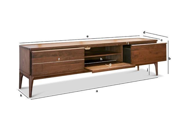 Product Dimensions Walnut TV cabinet Hemët