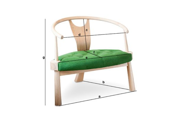 Product Dimensions Wellinfield three-legged armchair