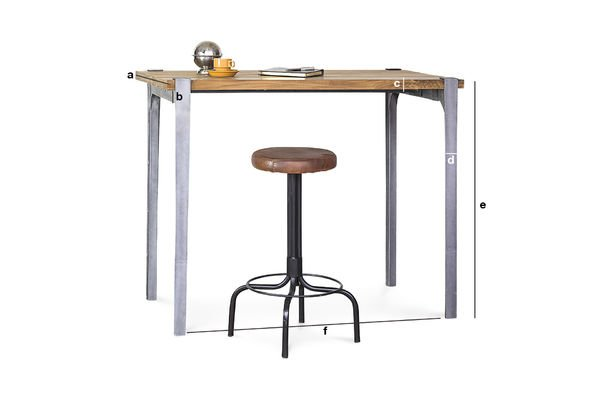 Product Dimensions Wellington bar table