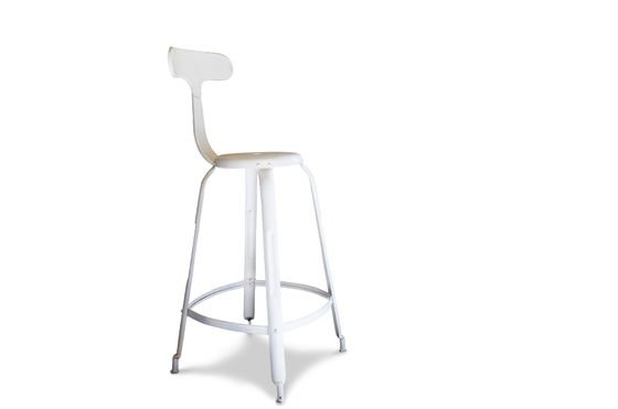 White barstool with rivets Clipped