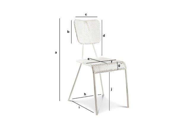 Product Dimensions White chair Métalo