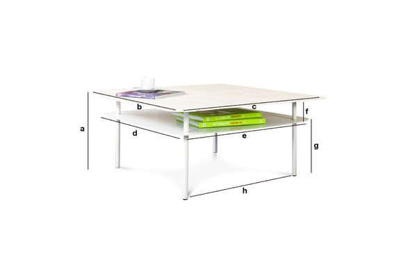 Product Dimensions White Holly Coffee Table