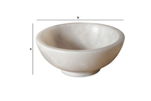 Product Dimensions White marble bowl Wäg