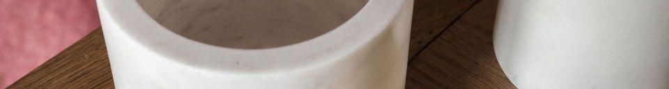 Material Details White marble jar Wäg