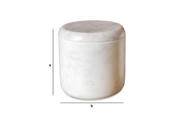 Product Dimensions White marble jar Wäg