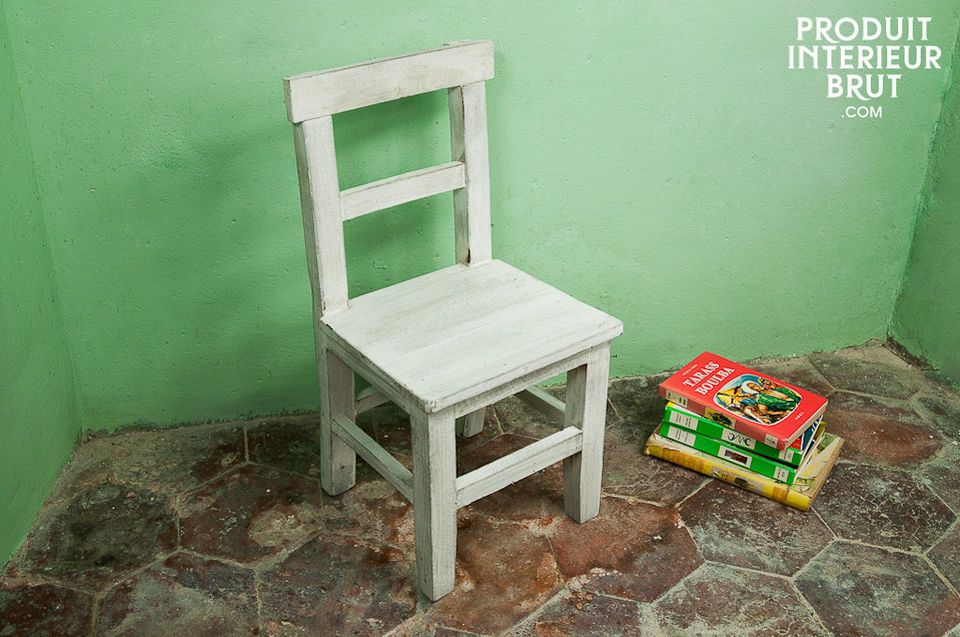 White wood children's chair
