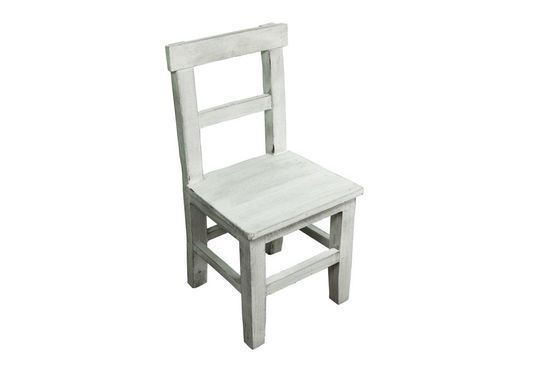 White wood children's chair Clipped
