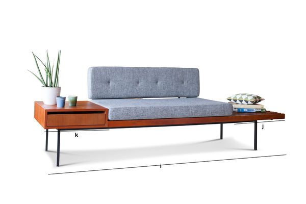 Product Dimensions Wide bench with drawer Inez