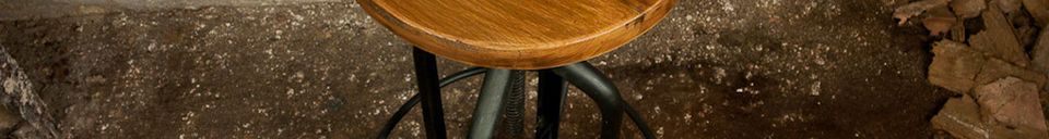 Material Details Wild West swivel bar stool