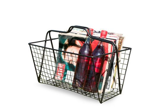 Wire-mesh magazine basket Clipped