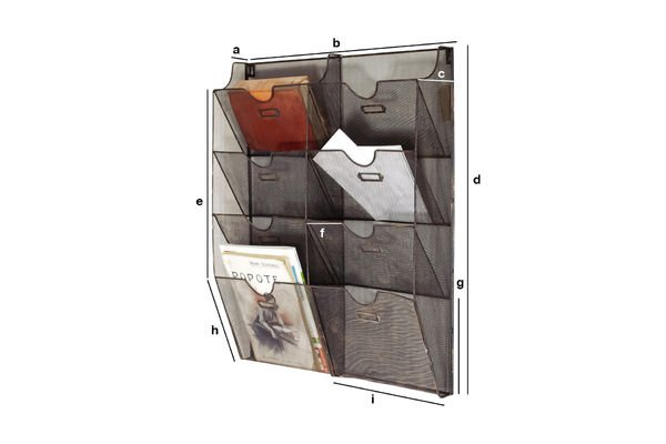 Product Dimensions Wire-mesh wall mount magazine rack