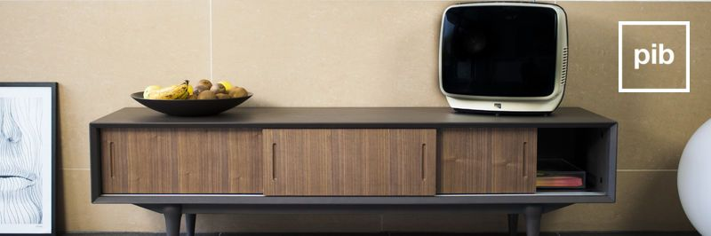 Wood and metal tv stand | pib