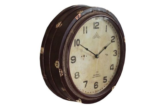 Wood Factory wall clock Clipped