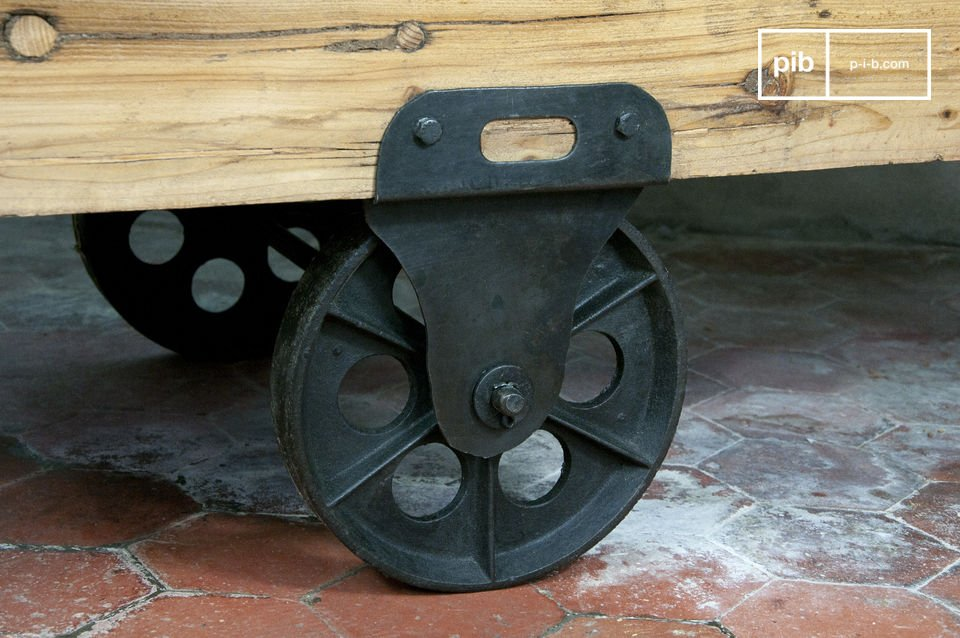 Practical, the Wood Wagon coffee table moves easily to suit your needs and accompany any room