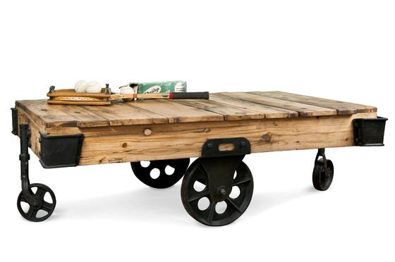 Wood Wagon coffee table Clipped