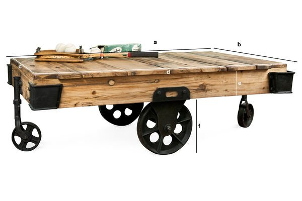 Product Dimensions Wood Wagon coffee table
