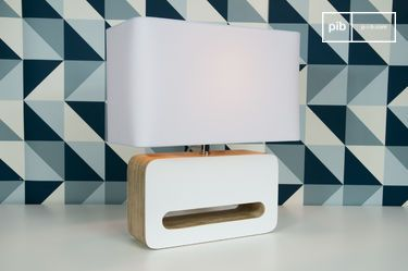 Wood White table lamp