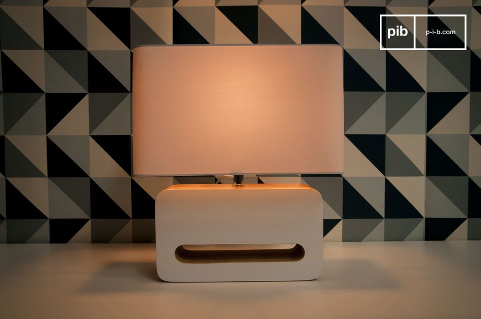 With its rounded edges and white lacquered surfaces
