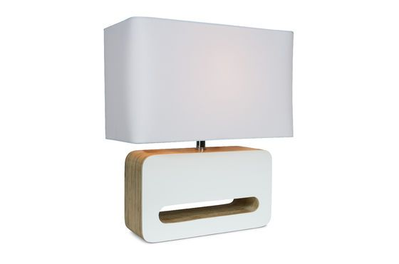 Wood White table lamp Clipped