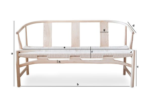 Product Dimensions Wooden bench Mäntta