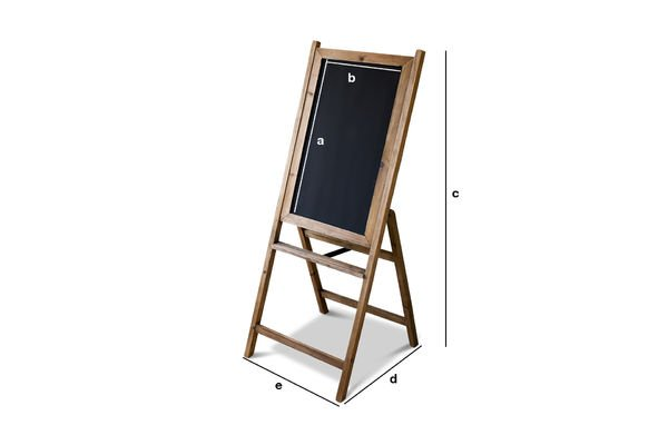 Product Dimensions Wooden blackboard Leon