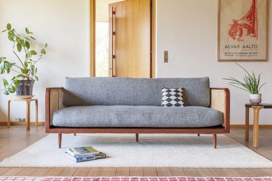 Wooden cane sofa Starheim