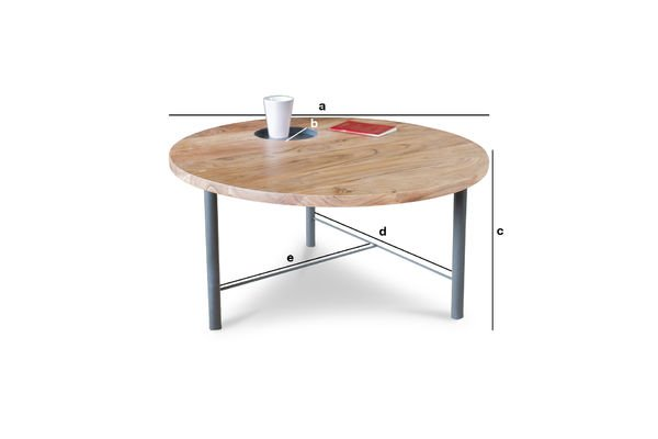 Product Dimensions Wooden coffee table Bascole