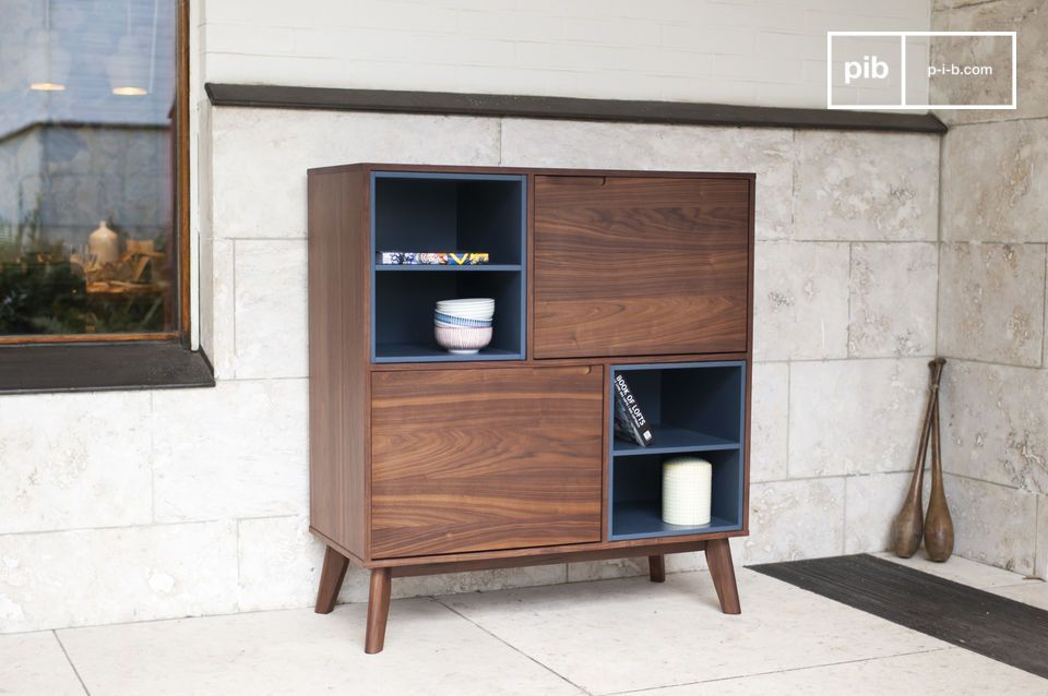 Its flared base and simple structure make it a versatile piece of furniture.