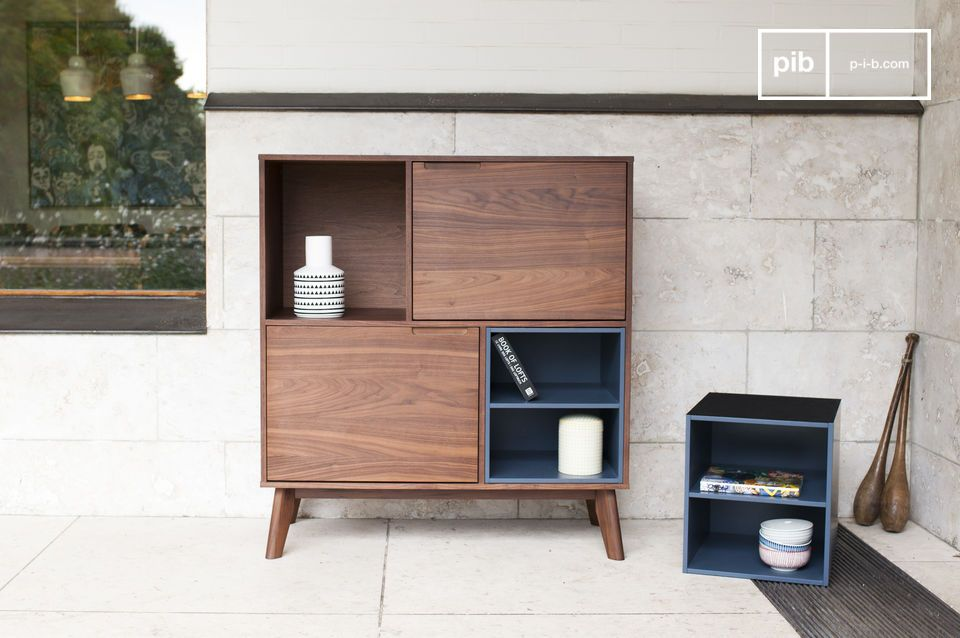 This storage unit is very practicable and gives your interior an additional decorative touch
