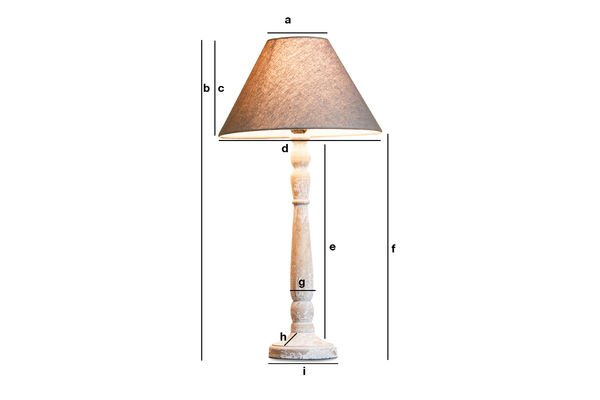 Product Dimensions Wooden lamp Alix