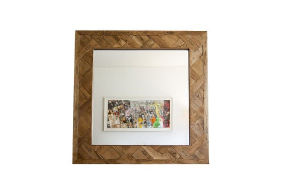 Wooden mirror Queens Clipped