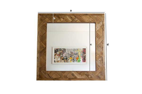 Product Dimensions Wooden mirror Queens