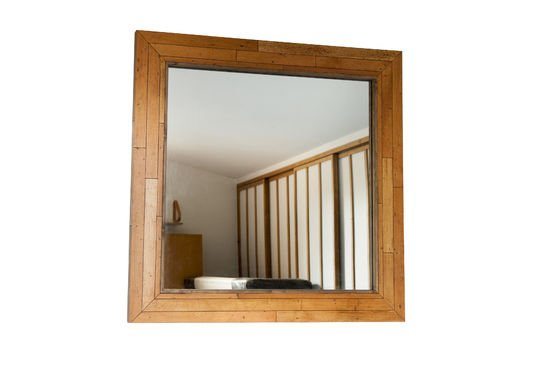 Wooden mirror Sheffield Clipped