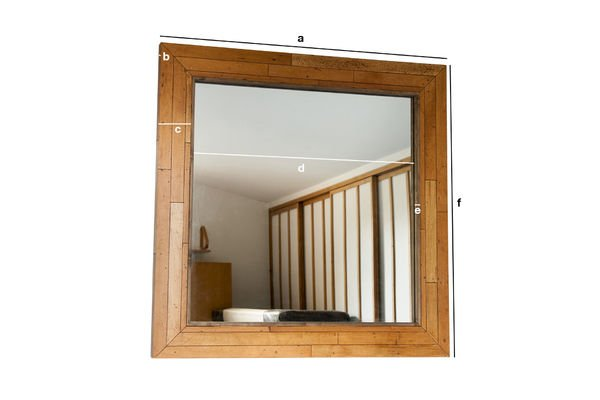 Product Dimensions Wooden mirror Sheffield