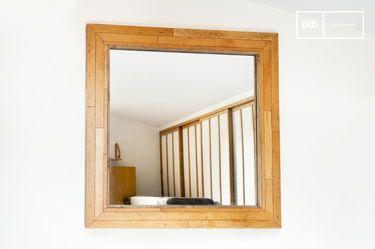 Mirror Matka Frame Made Of Dark Varnished Steel Pib