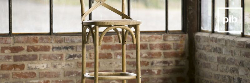 Wooden shabby chic bar stools