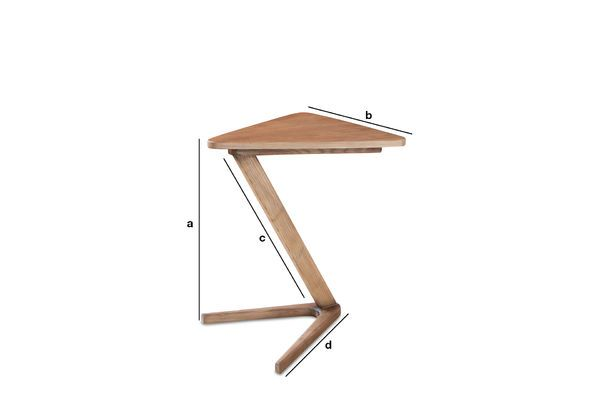 Product Dimensions Wooden side table Fleetwood