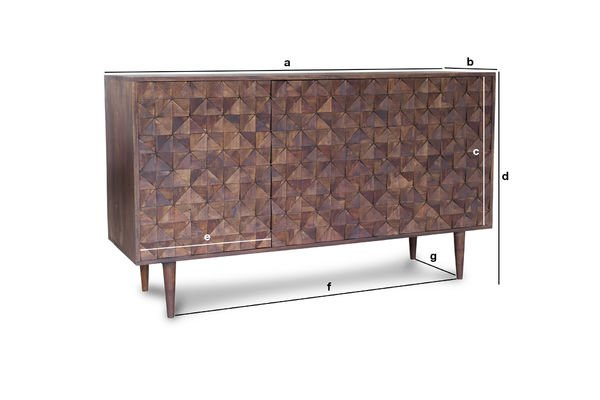 Product Dimensions Wooden sideboard Balkis