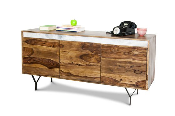 Wooden sideboard Mabillon Clipped