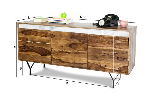Product Dimensions Wooden sideboard Mabillon