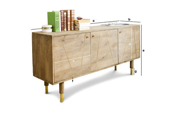 Product Dimensions Wooden sideboard Messinki