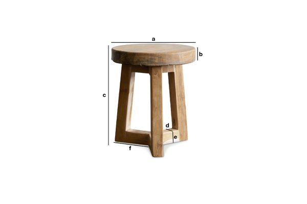 Product Dimensions Wooden stool Maverick